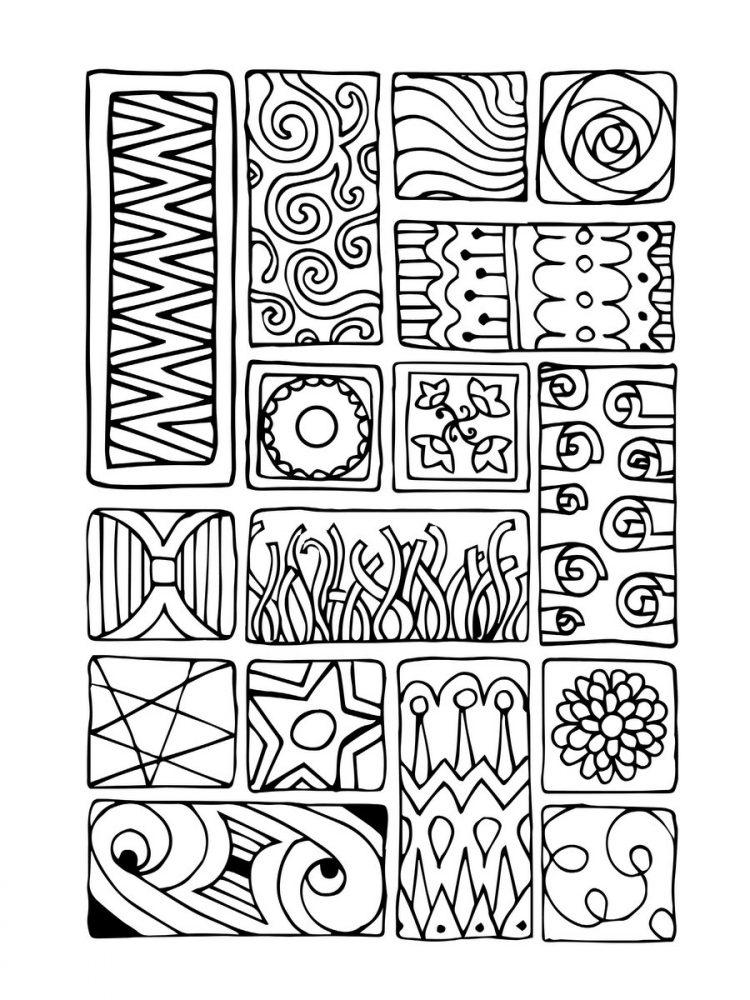 Large Print Adult Coloring Book 1 - Samples (4)