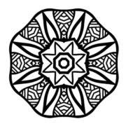 Large Print Adult Coloring Book #3: Big, Beautiful and Simple Mandalas
