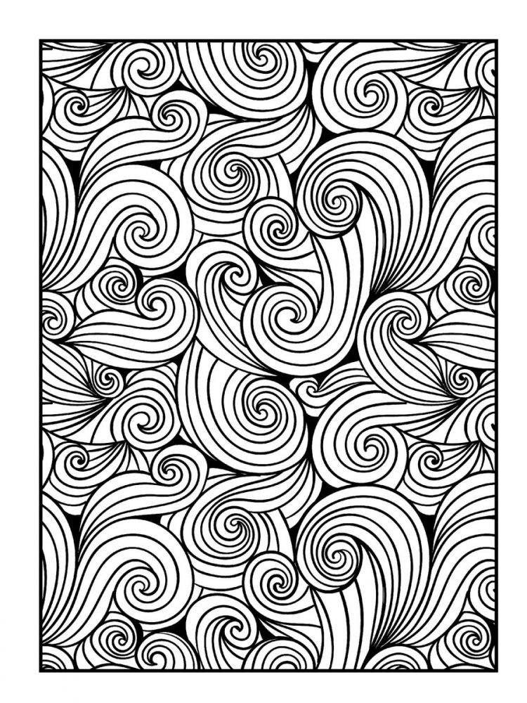 Large Print Adult Coloring Book Patterns (2)