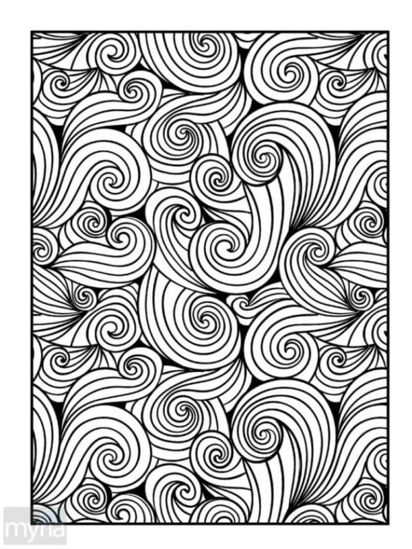 Large Print Adult Coloring Book #4: Big, Beautiful & Simple Patterns