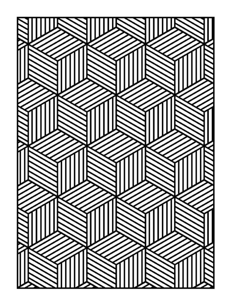 Large Print Adult Coloring Book Patterns (3)