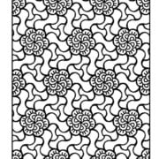 Large Print Adult Coloring Book #4: Big, Beautiful & Simple Patterns