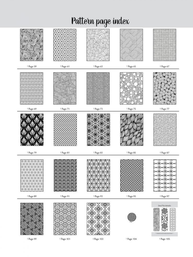 Large Print Adult Coloring Book Patterns (6)