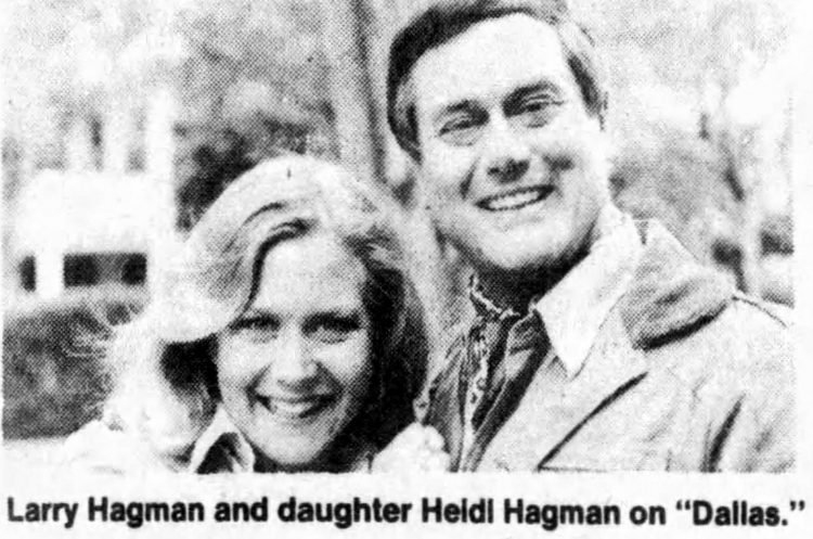 Larry Hagman and Heidi Hagman on Dallas 1979