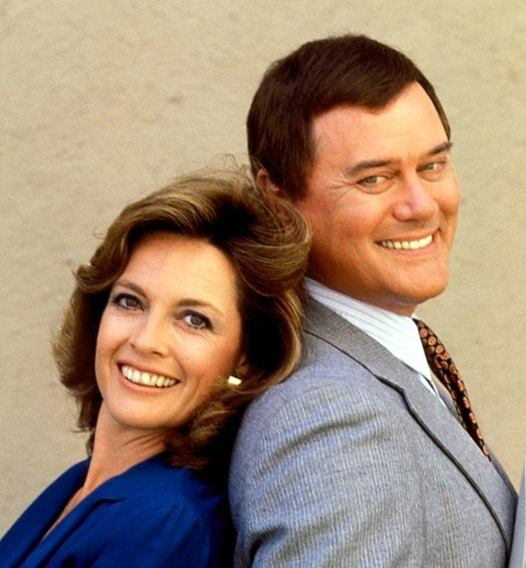 Larry Hagman and Linda Gray from Dallas TV show