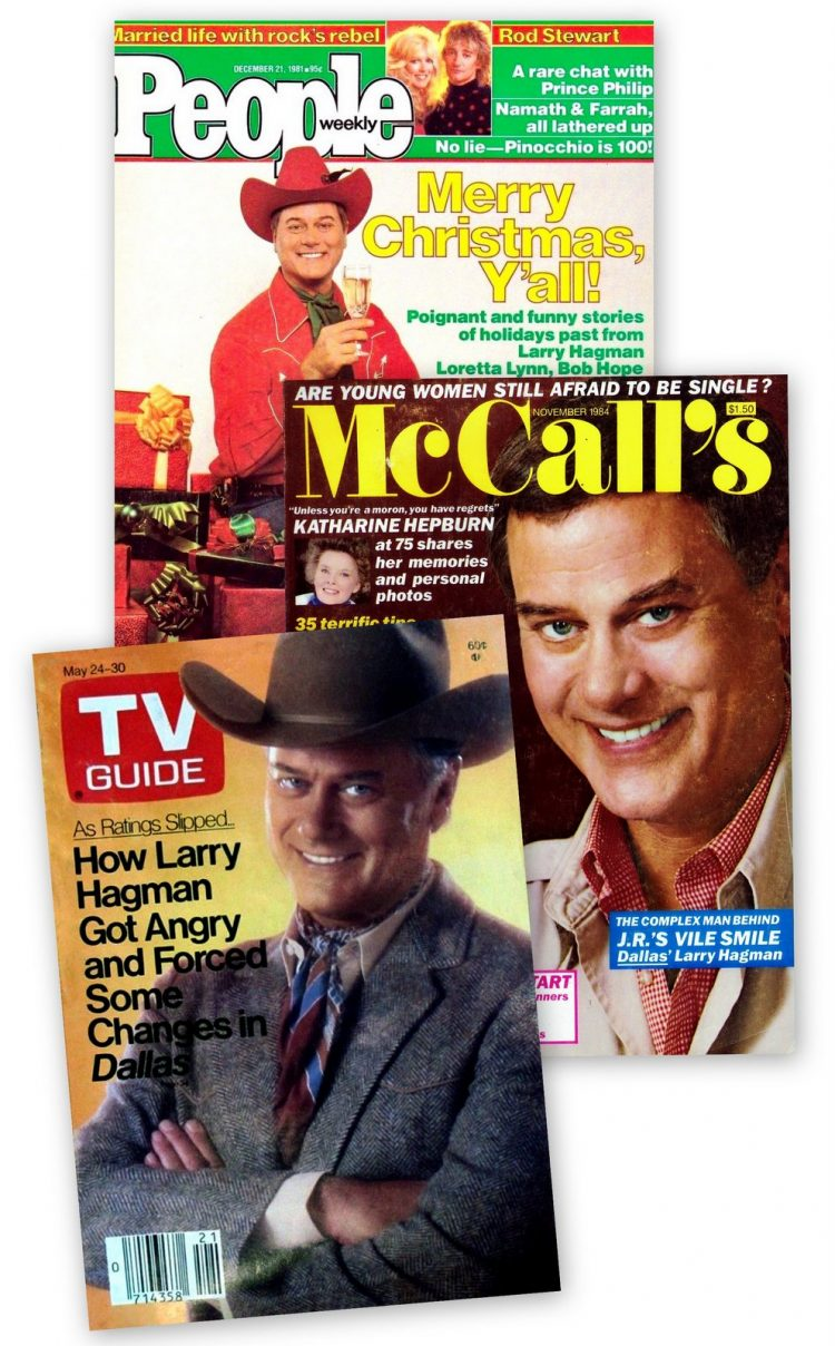 Larry Hagman magazine covers