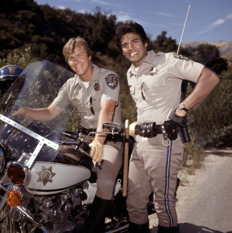 Larry Wilcox and Erik Estrada in CHiPs TV show