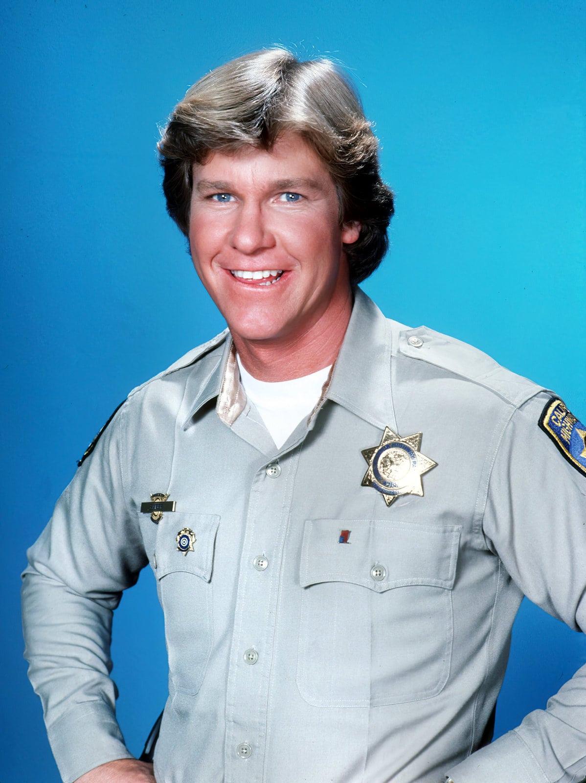 Larry Wilcox as CHiPs TV show Officer Jonathan Jon Baker