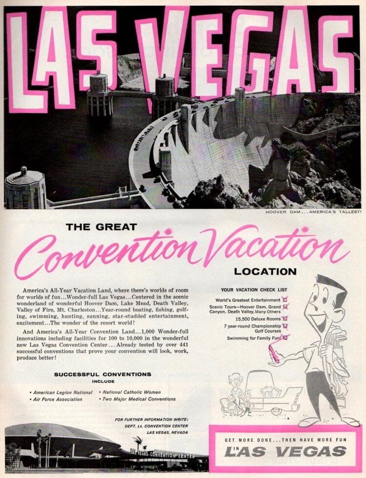 Las Vegas Get more done, then have more fun (1963)
