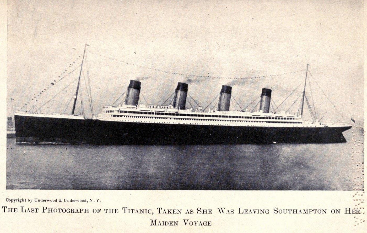 Last known photo of Titanic