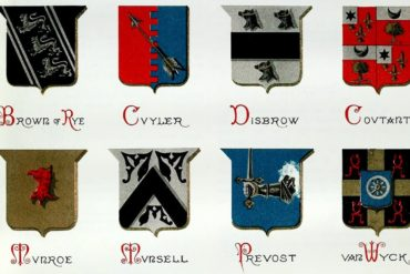 Last name crests of American families - history