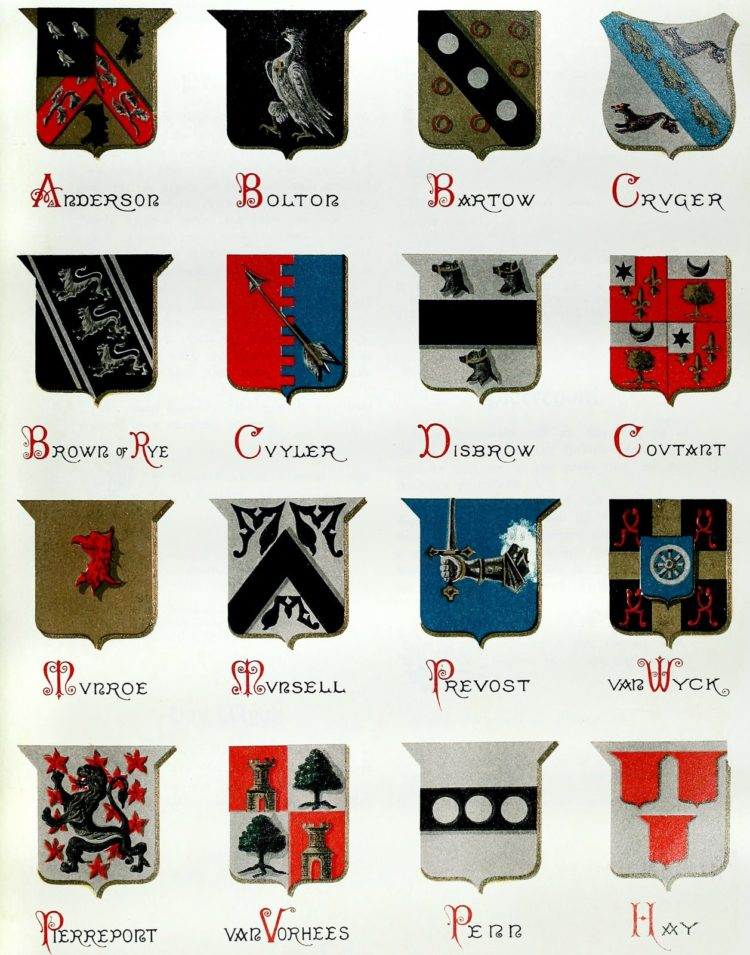 Last name crests of American families - vintage