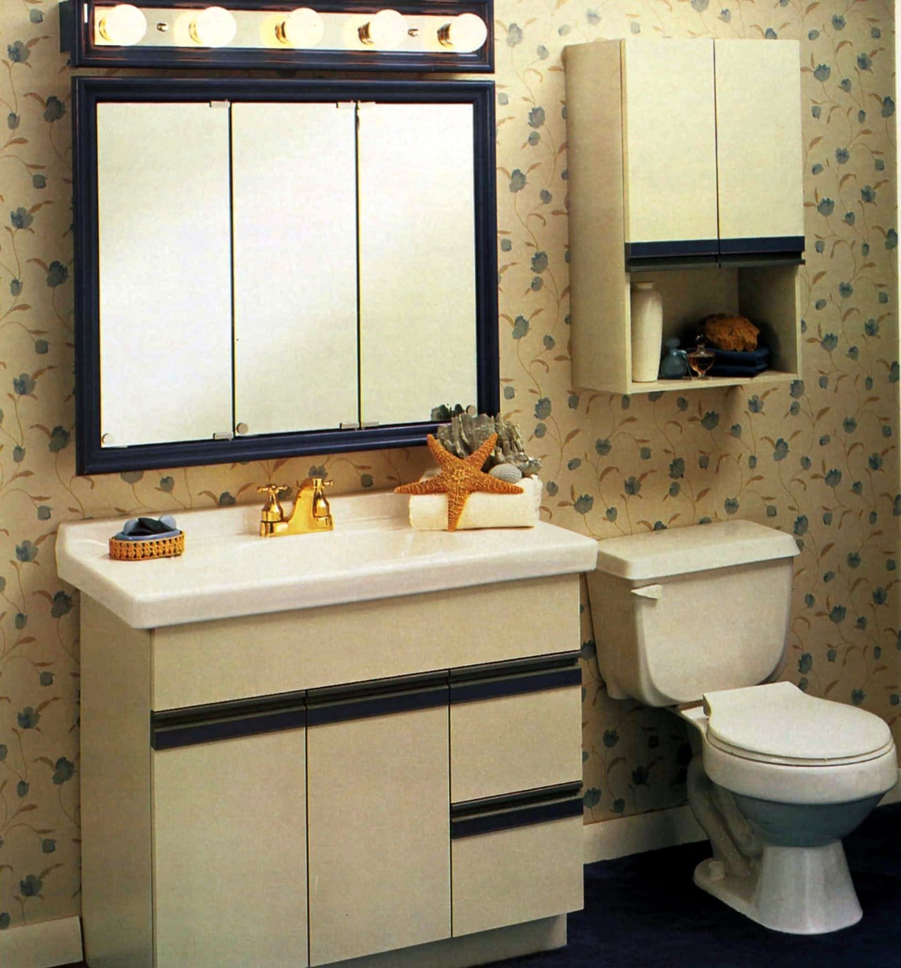 Late 80s simple bathroom decor