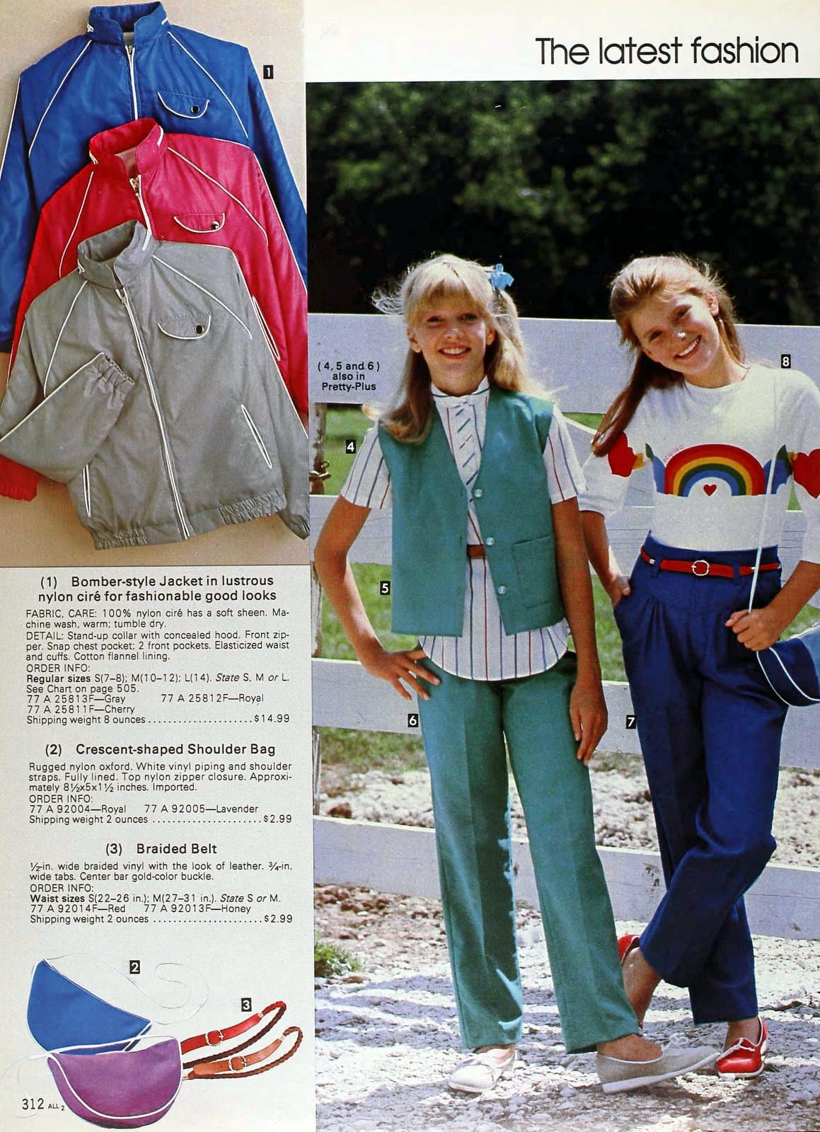 Latest fashions for girls and juniors from 1983