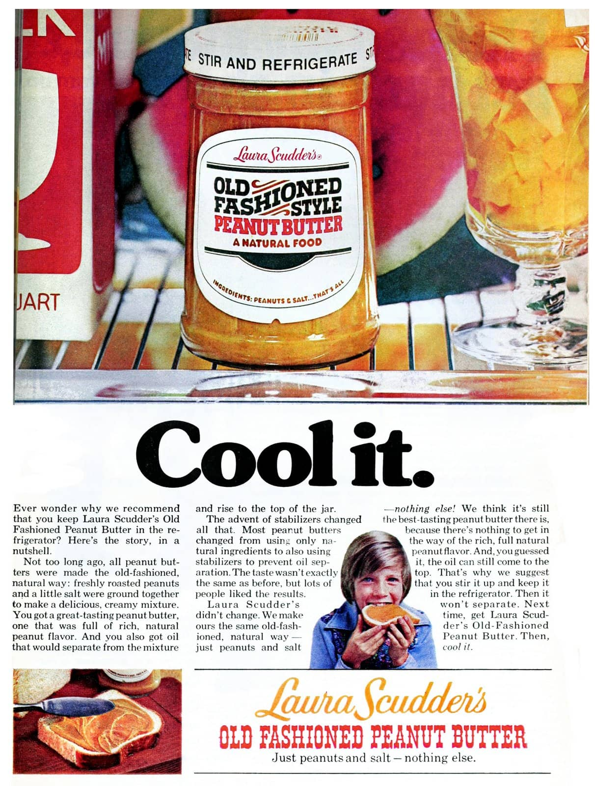 Laura Scudder's Old Fashioned Peanut Butter (1977)