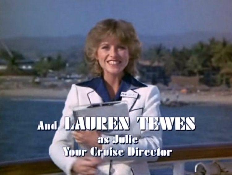 Lauren Tewes as cruise director Julie McCoy