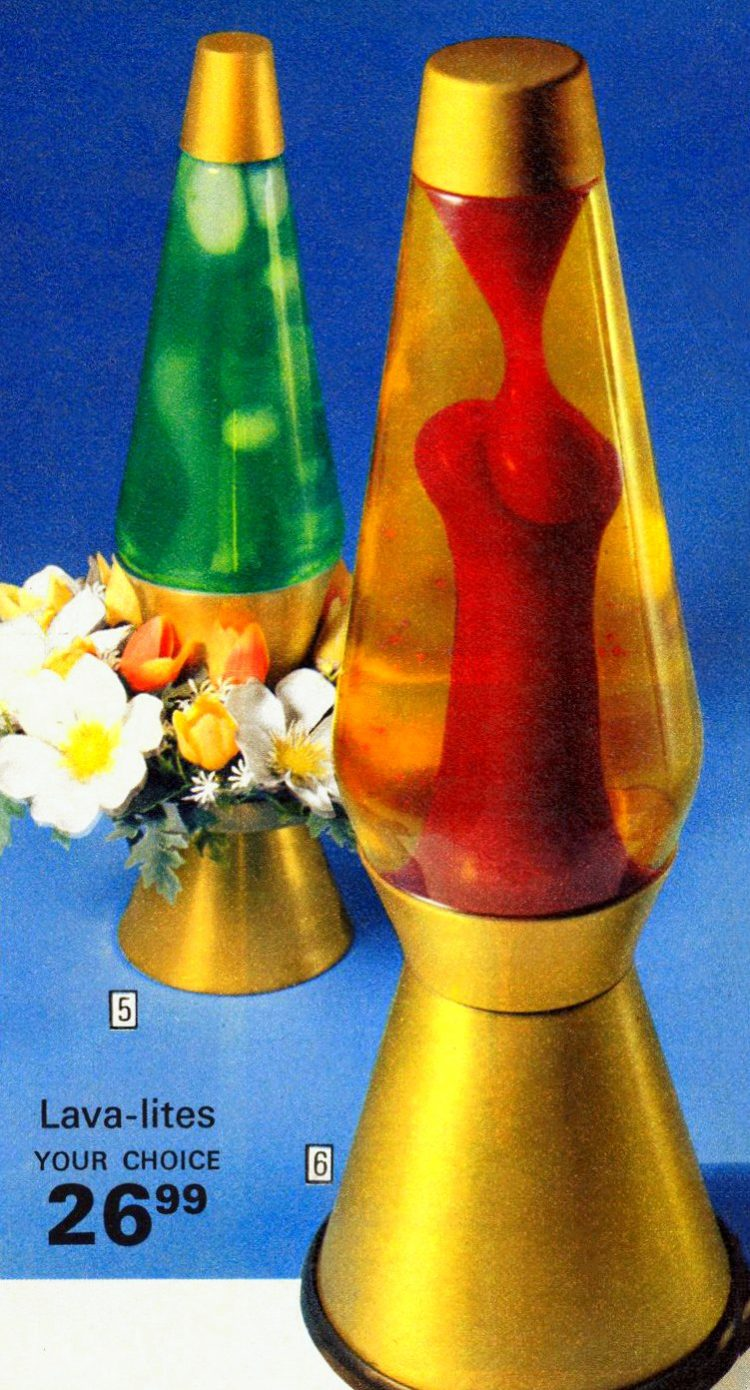 Lava Lamps in Wards catalog 190s
