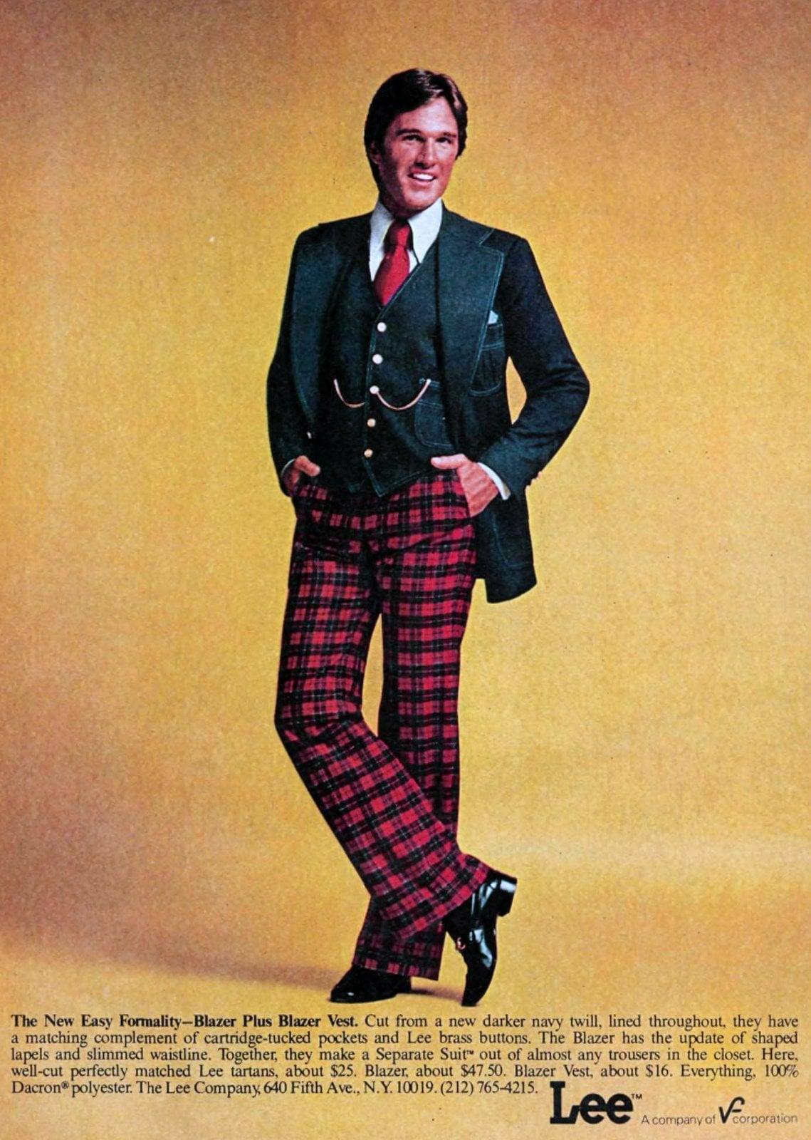 Lee blazer and plazer vest plus checked pants (1976)
