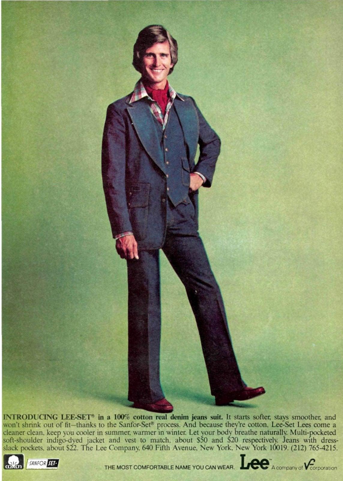 Lee denim suit for men (1976)