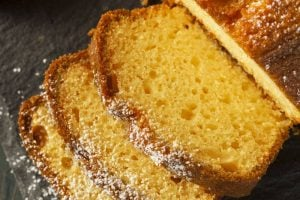 Lemon pudding pound cake - vintage recipe