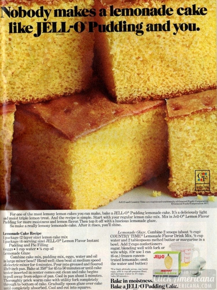 Classic lemonade cake recipe (with pudding)
