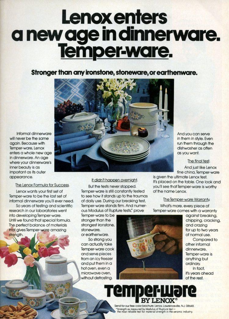 Lenox Temper-Ware - Vintage dishes 1981