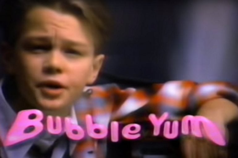 Leonardo DiCaprio's old Bubble Yum TV commercial (1988)