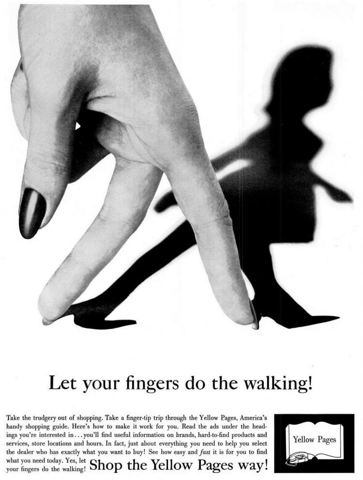 Let your fingers do the walking - Yellow Pages 1962