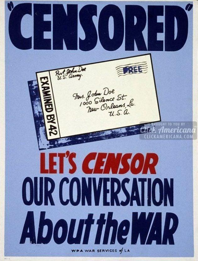 Let's censor our conversation about the war