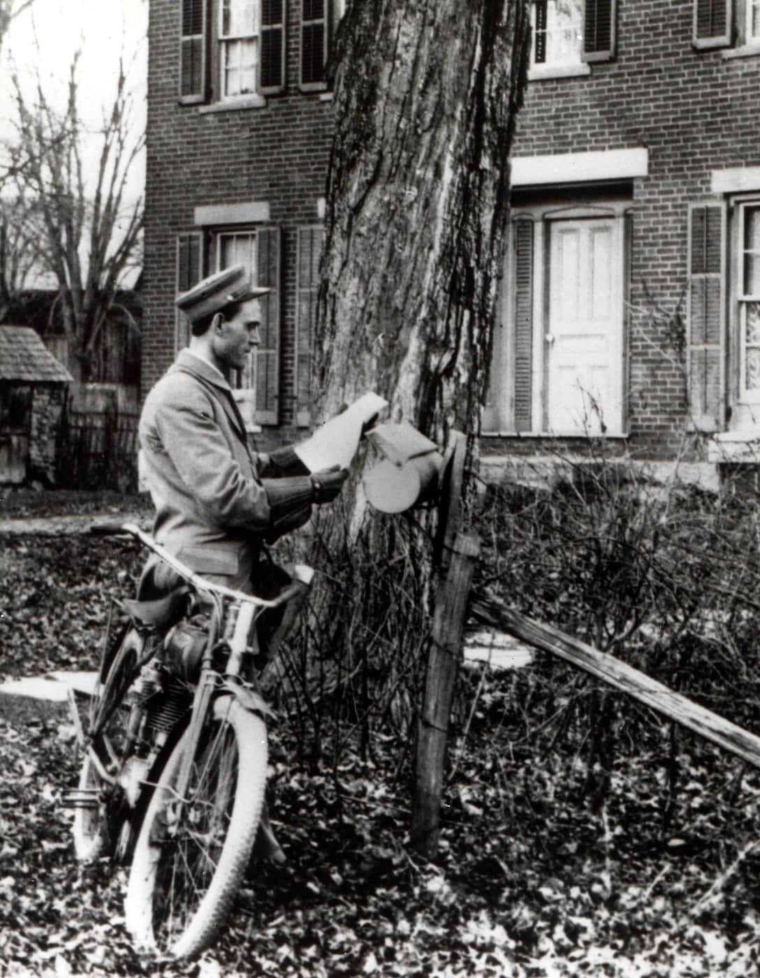 Letter Carrier Delivering Mail by Bicycle 1890