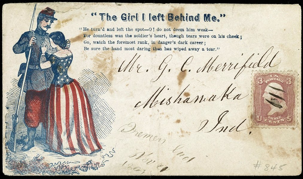 Letter written and mailed during the Civil War - 1860s (1)