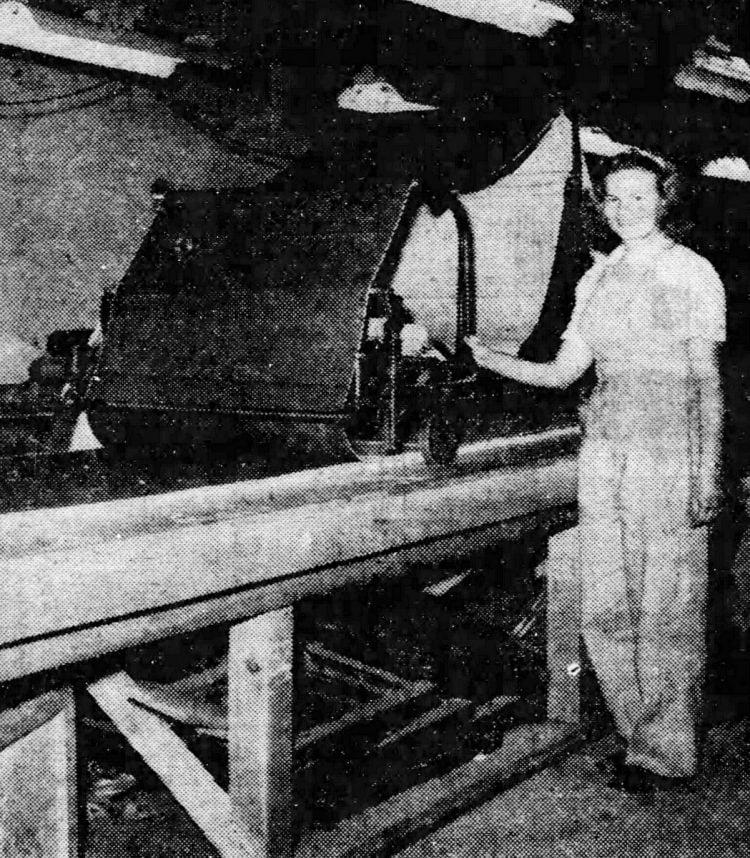 Levi's worker Kitty Getzschmann in 1946