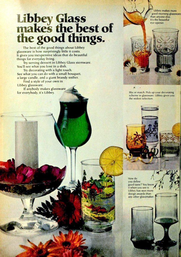 Libbey Glasses from the '70s - 1977