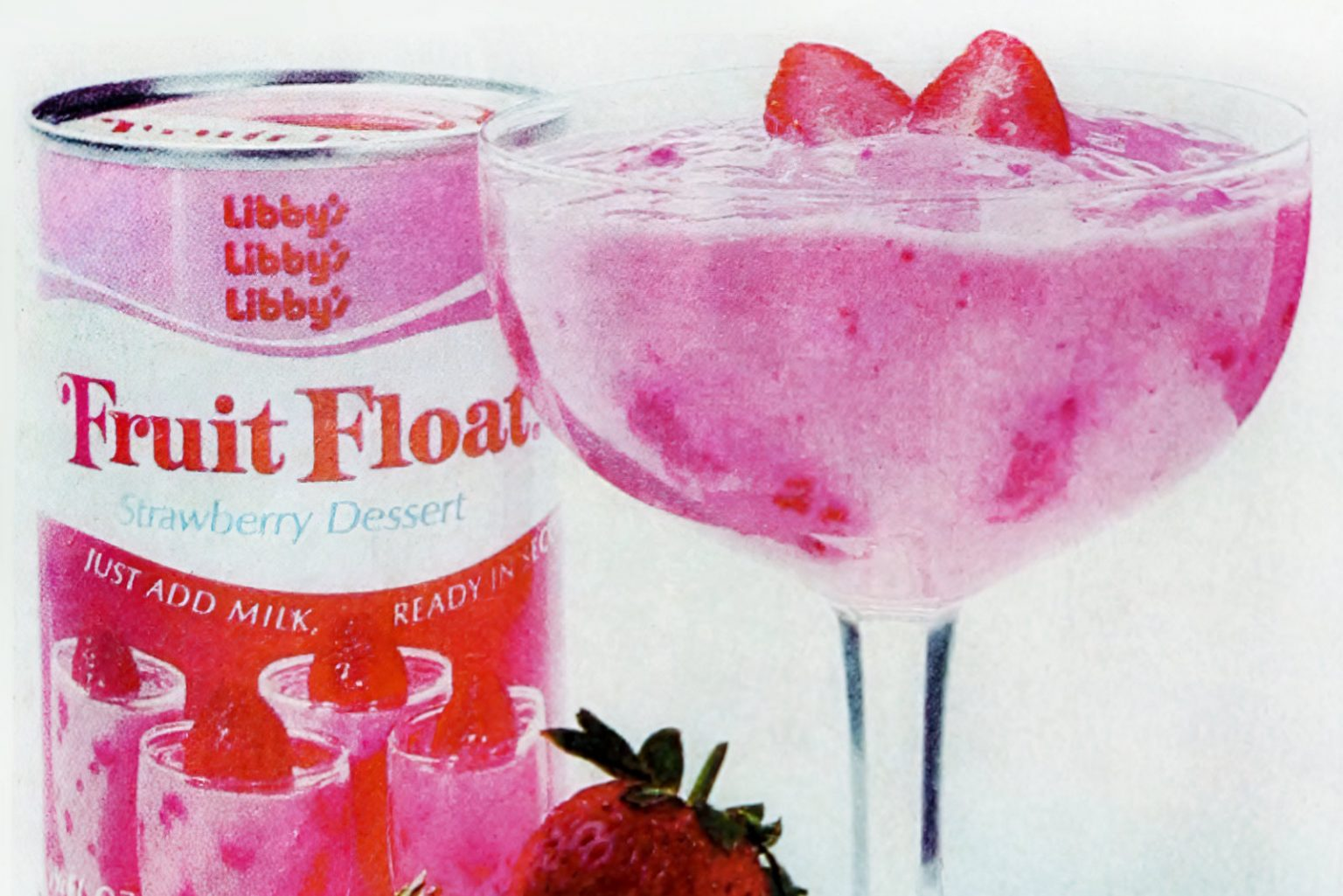 Libby's Fruit Float canned dessert mix from the 1970s