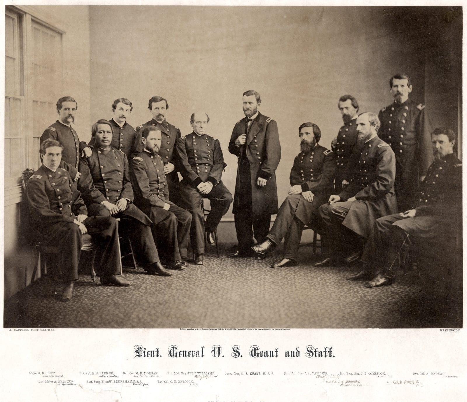 Lieut General U S Grant and staff - Civil War photograph