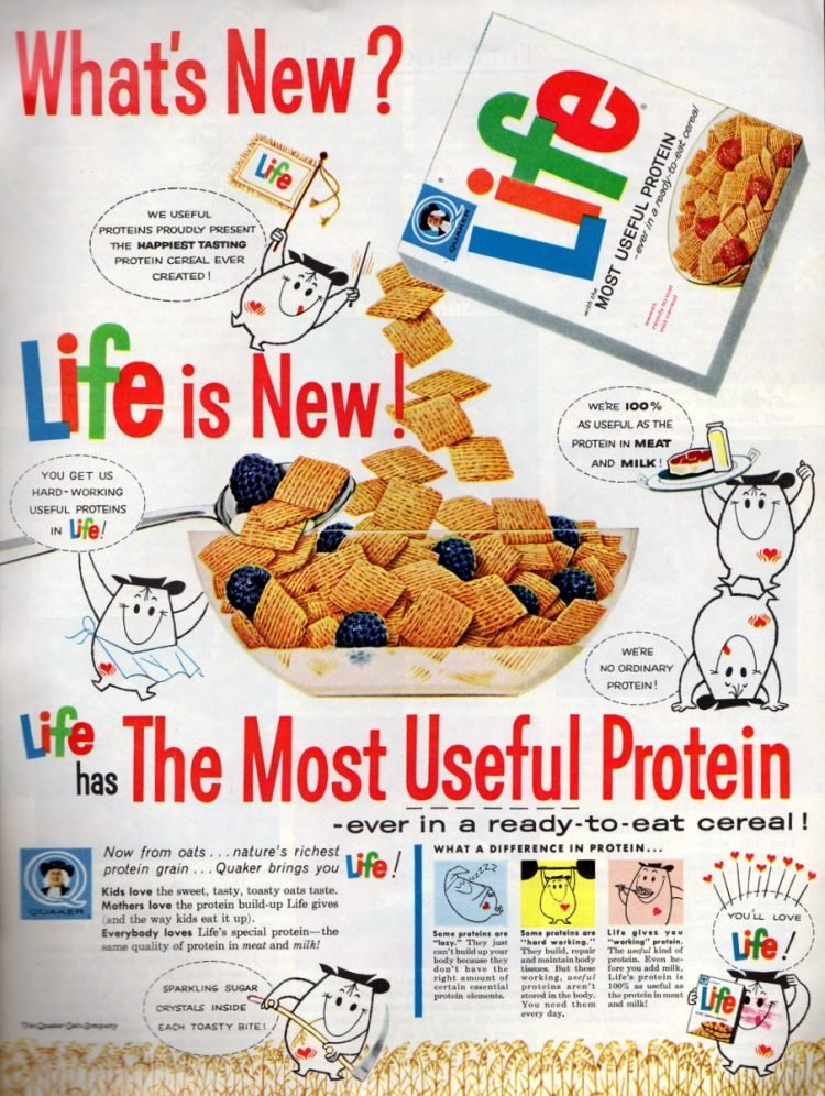 Life cereal from Quaker 1962