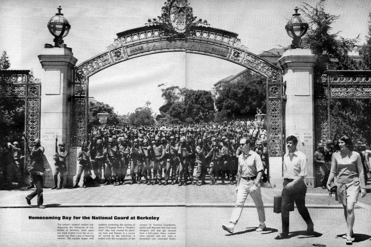 Life magazine's take on UC Berkeley's Bloody Thursday (1969)