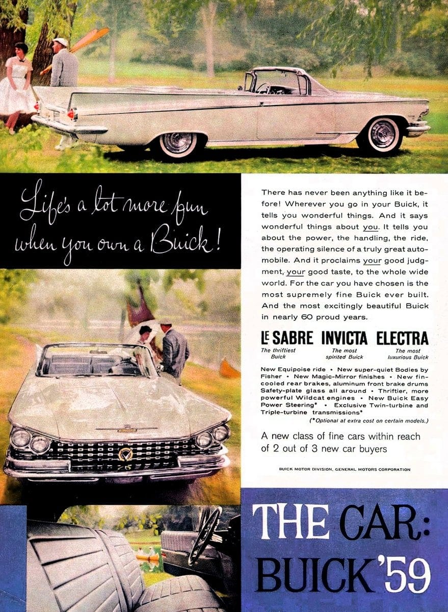 Life's a lot more fun when you own a '59 Buick
