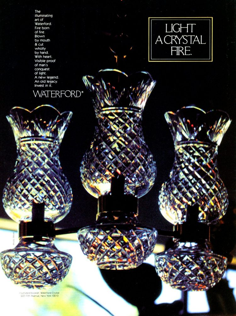 Light a crystal fire - Waterford lamps from 1981