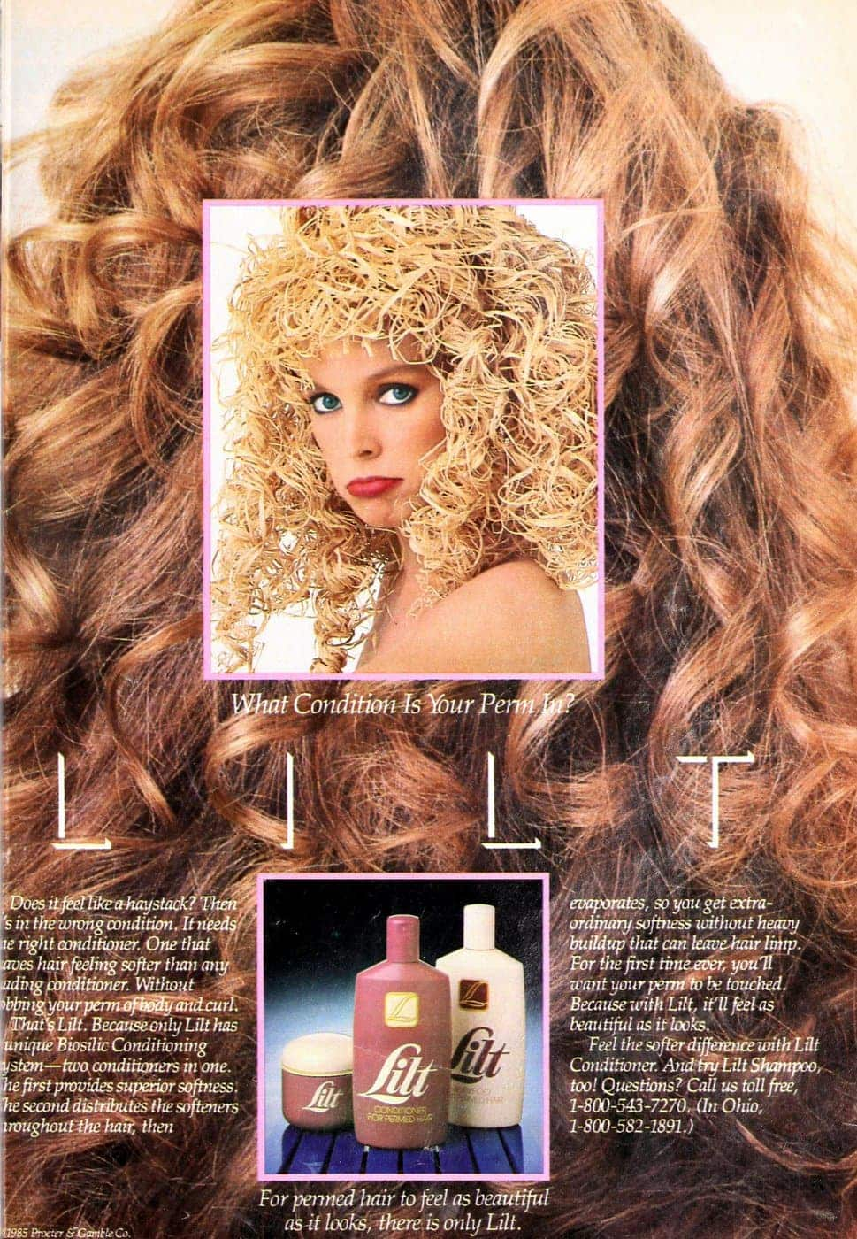 Lilt perm shampoo from 1985