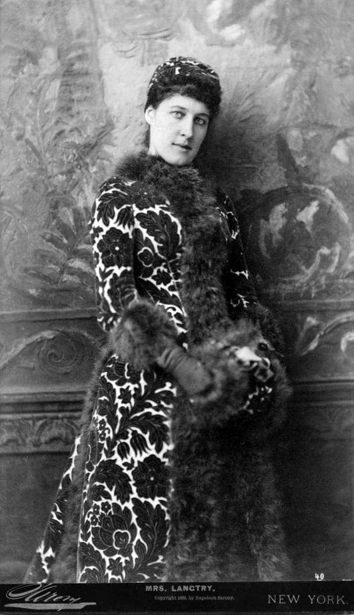 Lily Langtry - Lillie Langtry in a fur-trimmed coat and muff