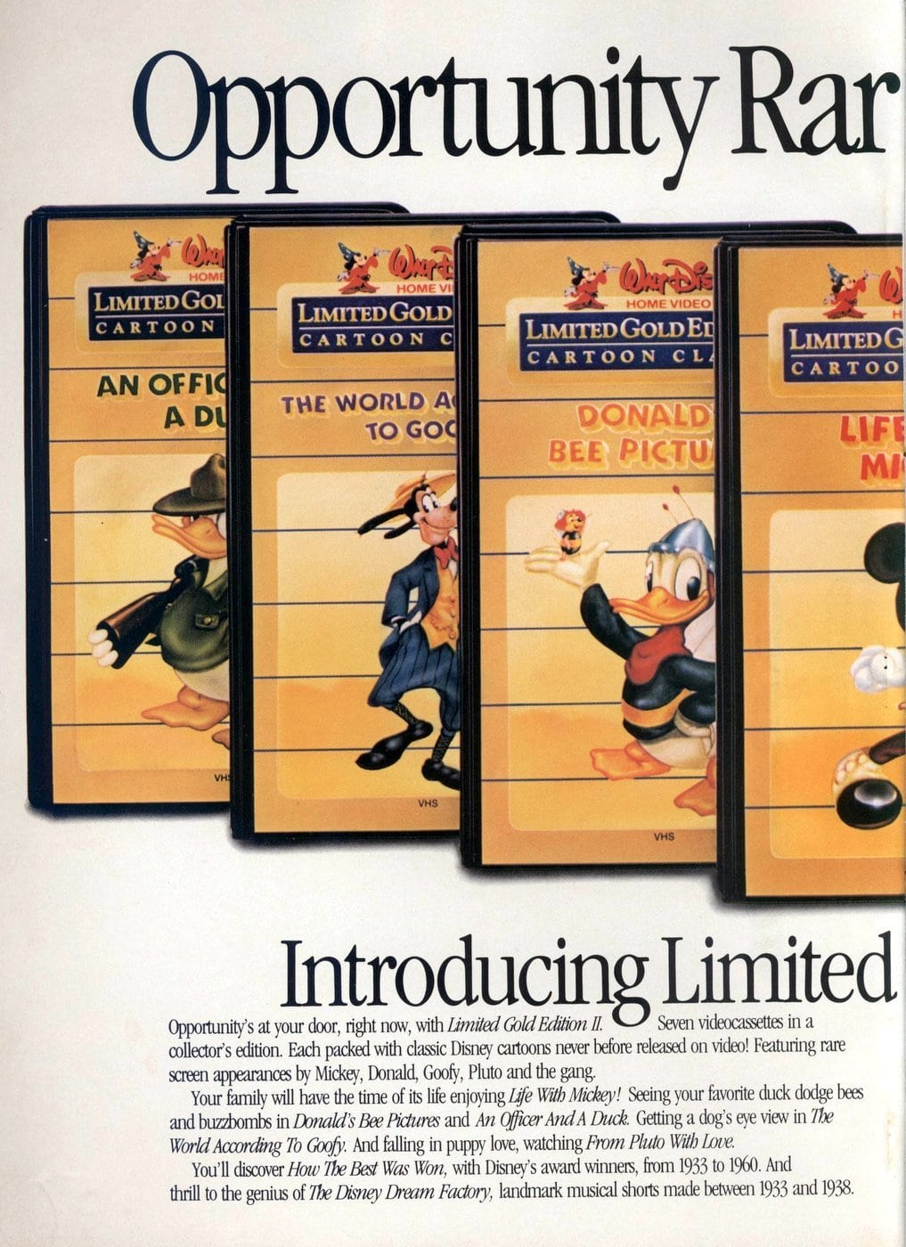 Limited Gold Edition II -- Retro Walt Disney movies (1985) 1