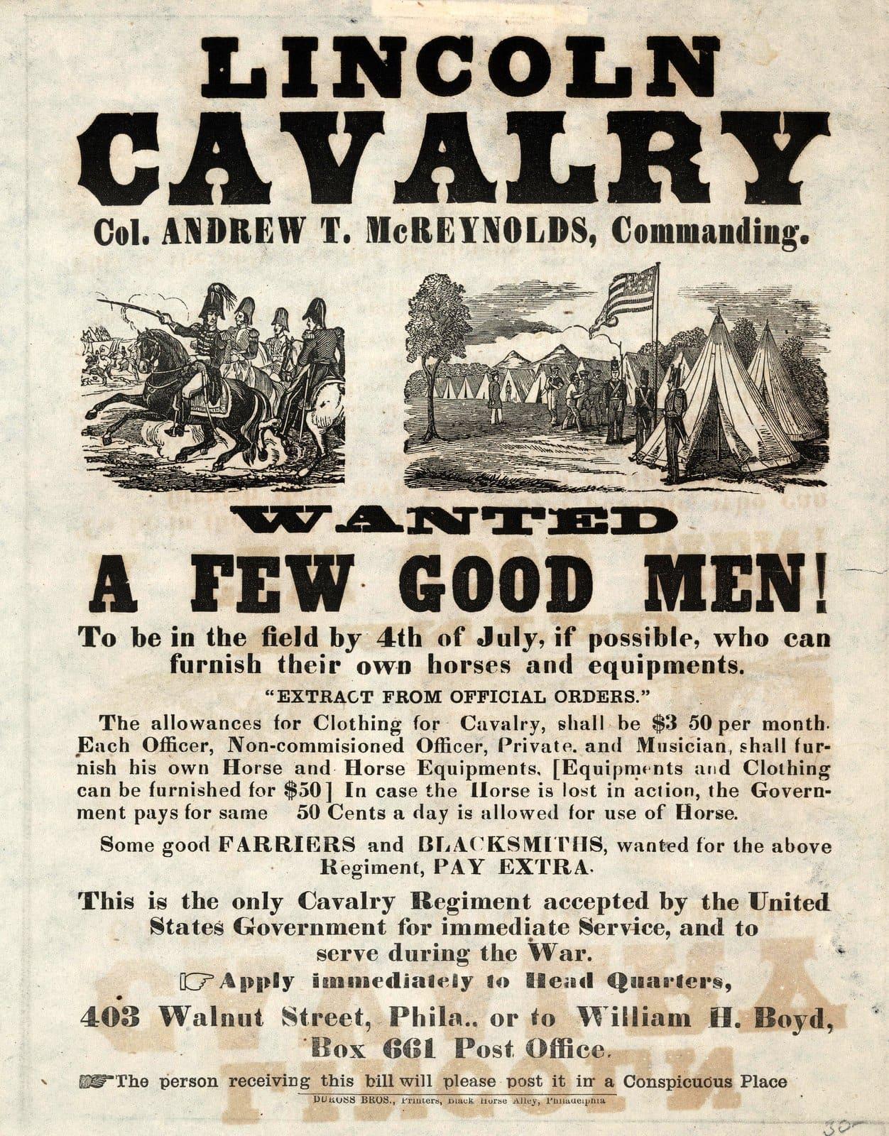Lincoln Calvary 1861