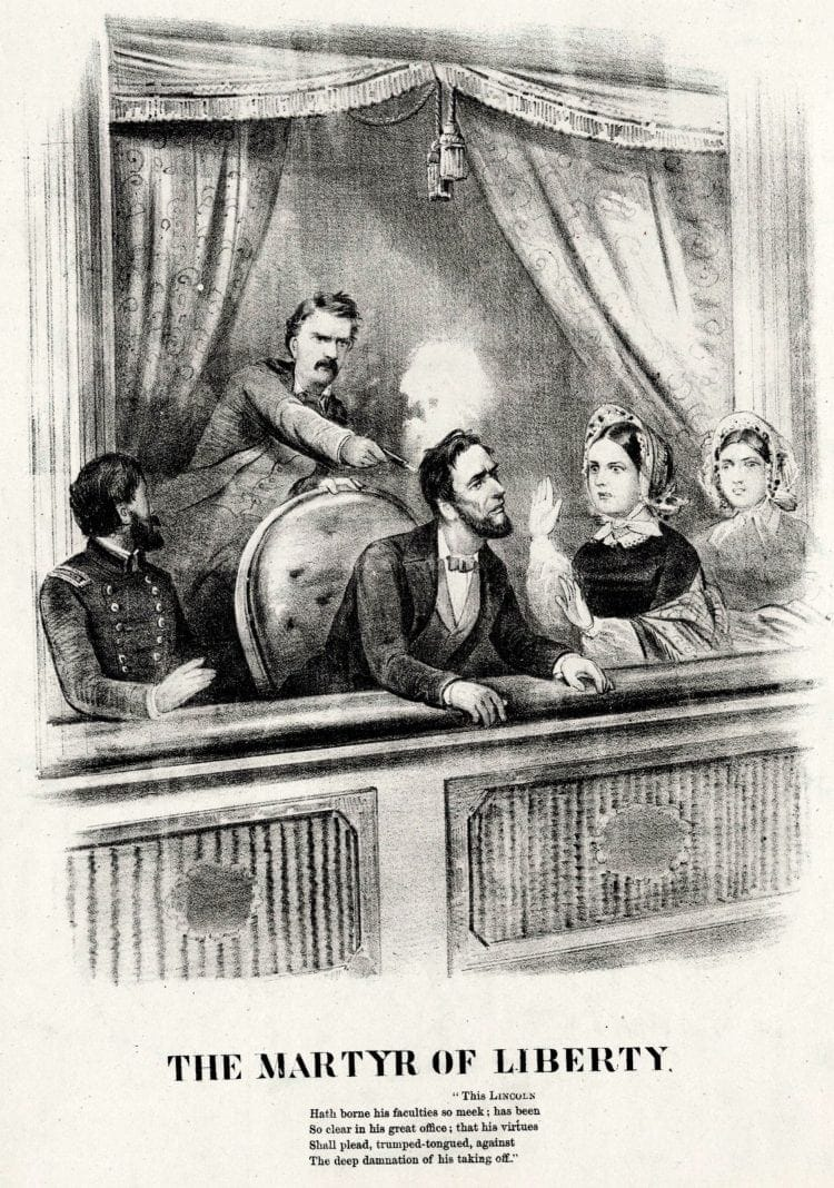 Lincoln's assassination drawing - Ford's Theatre