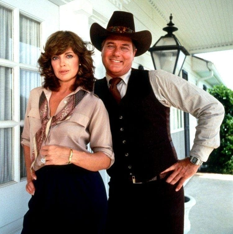 Linda Gray and Larry Hagman - Dallas TV show