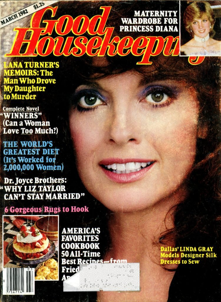 Linda Gray on the cover of Good Housekeeping (1982)