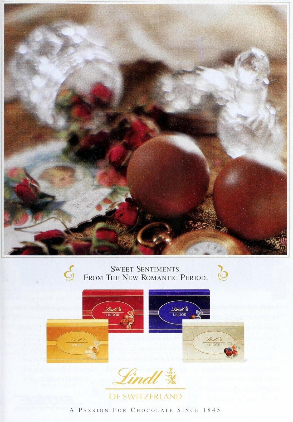 Lindt truffles - Vintage 90s chocolate candies (1994)