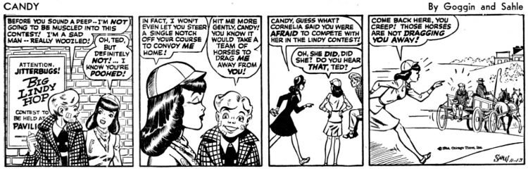 Lindy Hop comic strip from 1944