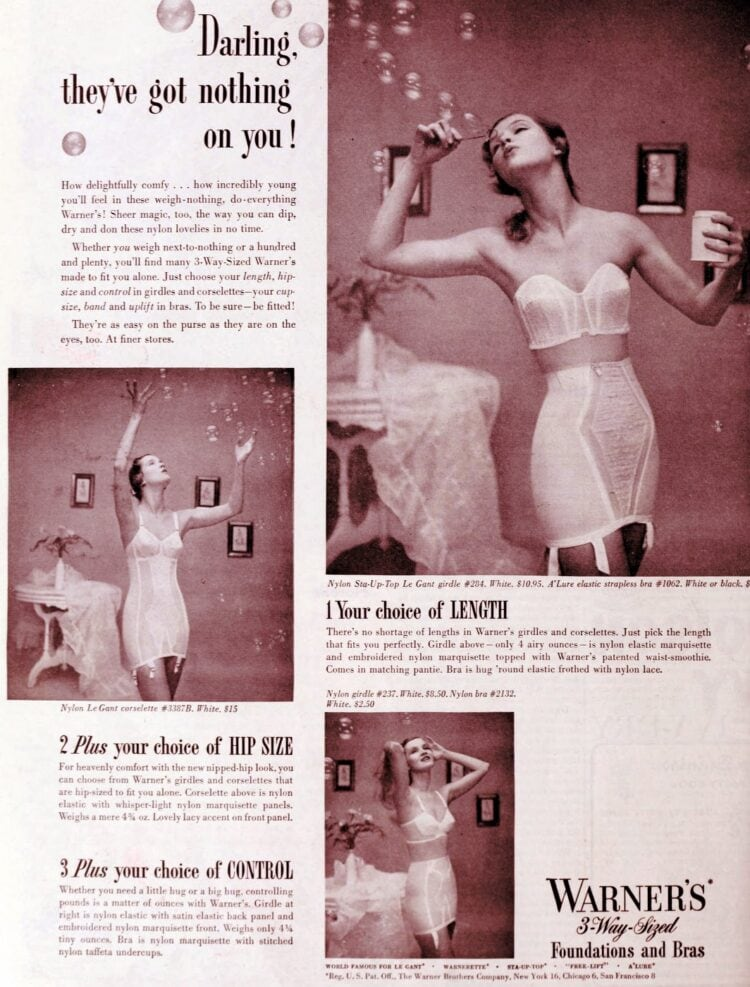 Lingerie and beauty fashion from 1950