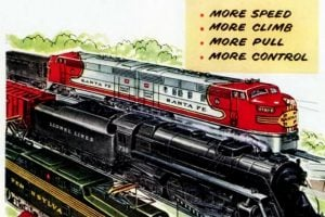 Lionel Trains Vintage toy locomotives from the 1950s